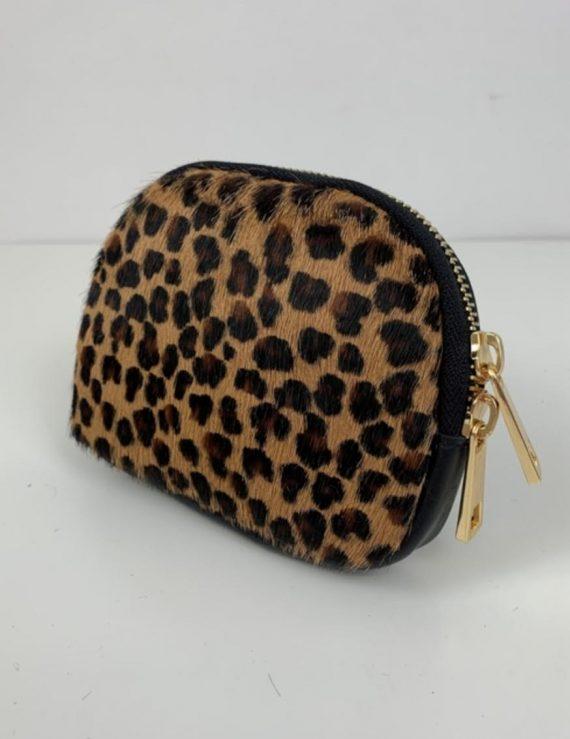 dark leopard purse