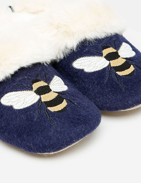 slippers embroidered detail